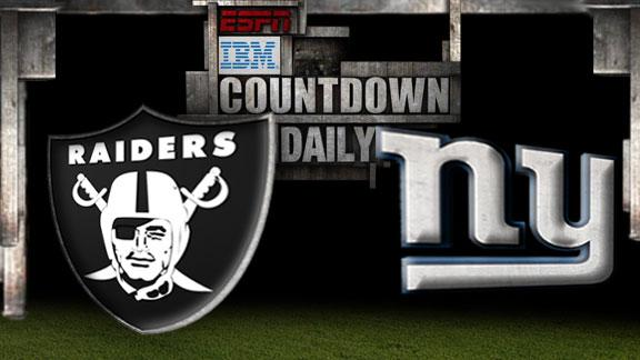 Oakland Raiders vs New York Giants